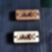 targhette prodotto in legno personalizzate