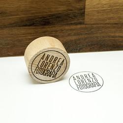 Timbro in legno massello di faggio