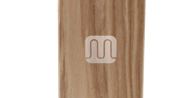 Portalampada in legno E27 forma a Parallelepipedo