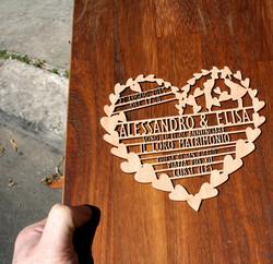 Partecipazione in legno massello