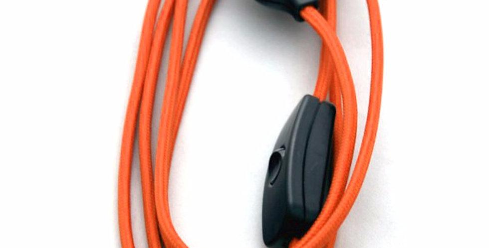 Cavo+Int+Spina Telato Colorato Arancio