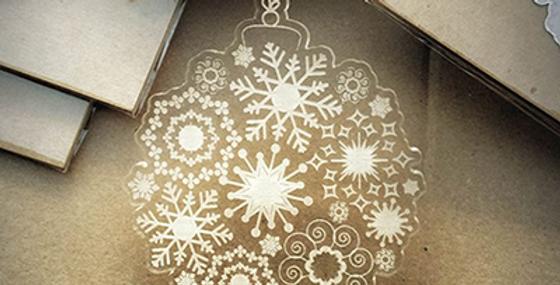 Pallina di Natale Snow in Plex Trasparente