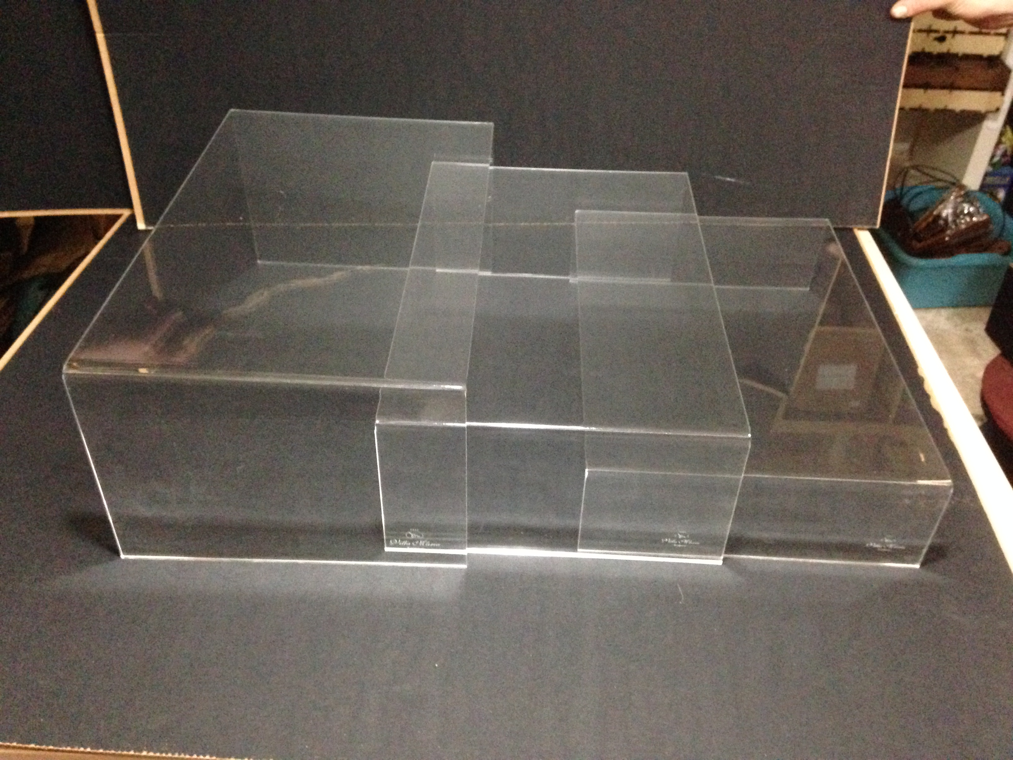 Display per catering in plexiglas