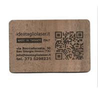 biglietti da vista taglio laser in legno