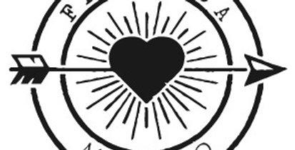Timbro personalizzato nomi sposi con freccia e cuore