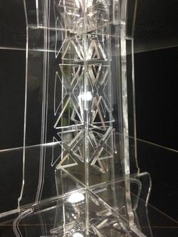 Display Torre Effel plexiglas food
