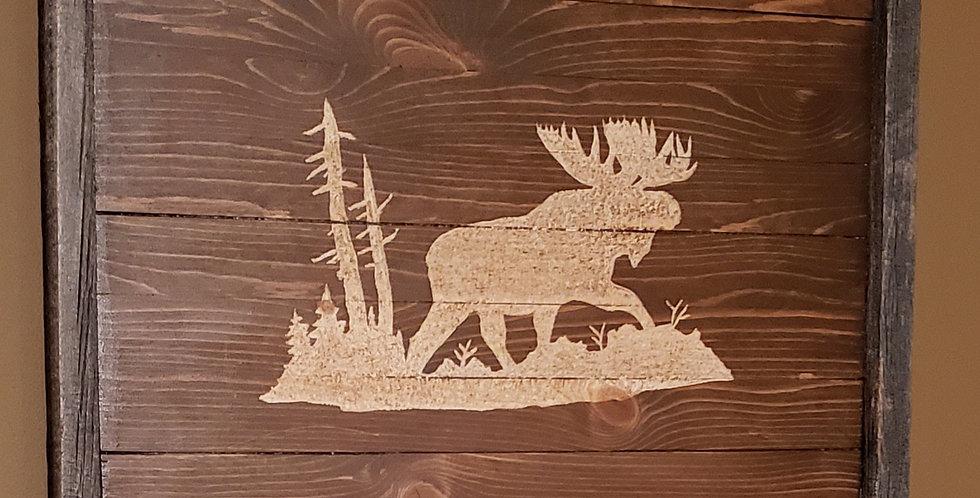 Rustic Moose Wall Art