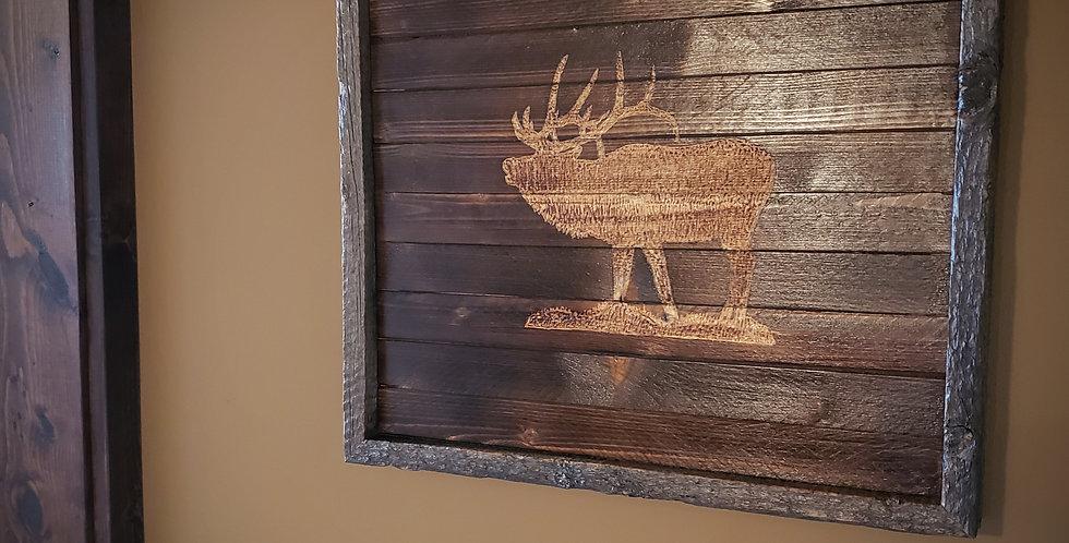 Rustic Elk Wall Art