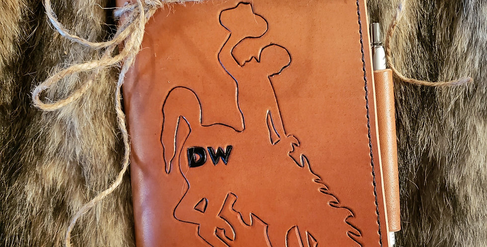 Leather Notes Cover (Bucking Horse)