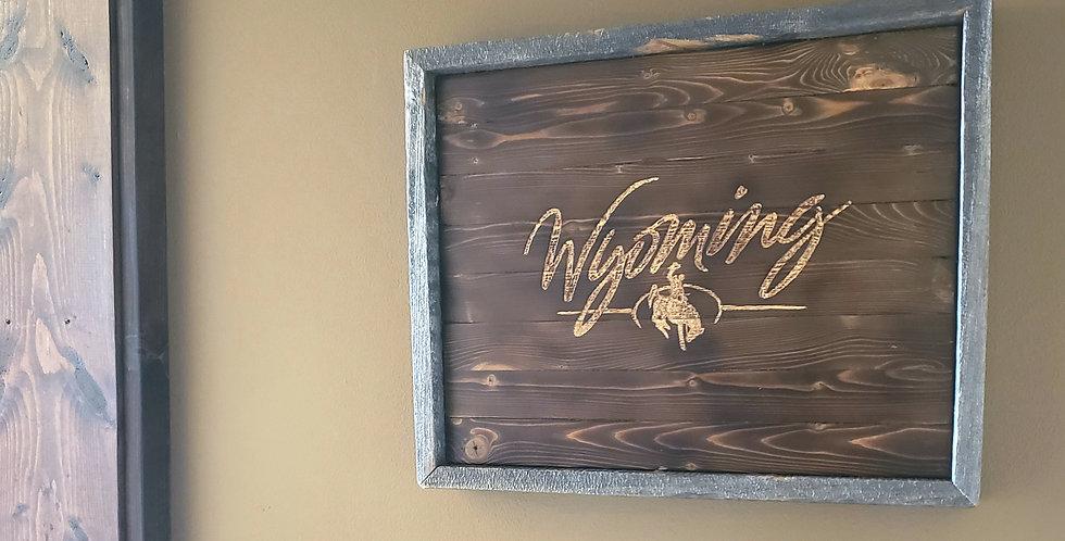 Rustic Wyoming Wall Art