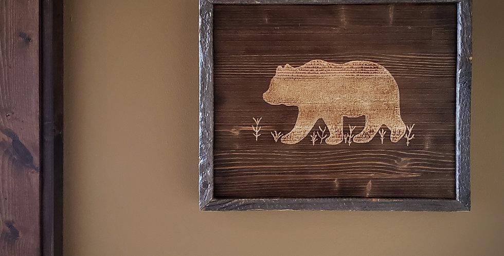 Rustic Bear Wall Art