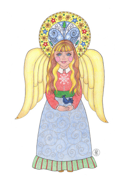 Noelle, the Christmas Angel - Cards and gifts on Society 6.com