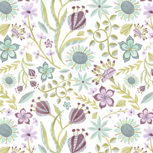 Plucked Plums on White - Watercolor, Surface pattern design on Spoonflower.com