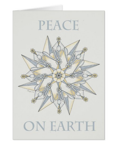 Peace on Earth card - Zazzle.com