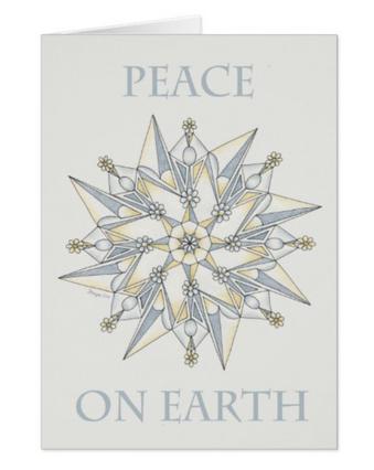 Peace on Earth card - Zazzle.com