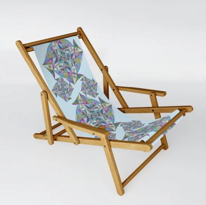 Lilac Mandala - Sling Chair on Society6.com