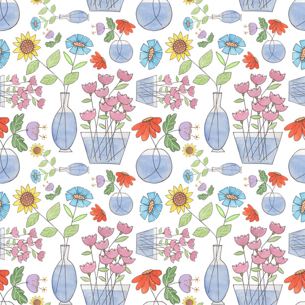 Stick Flowers on Spoonflower.com