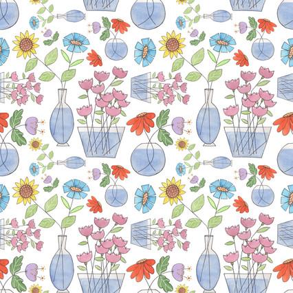Stick Flowers on Spoonflower.com