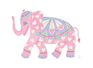 Sweetheart elephant - Colored pencil printo on Etsy.com