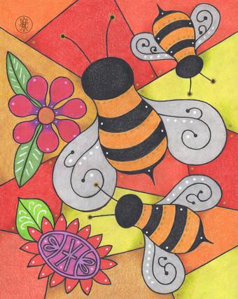 Bees print - Etsy.com