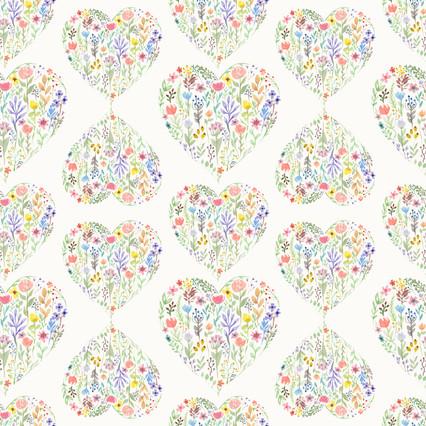 Flowerhearts pattern - Spoonflower.com