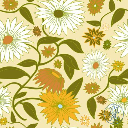 Gerbera Daisies Butter - Spoonflower.com