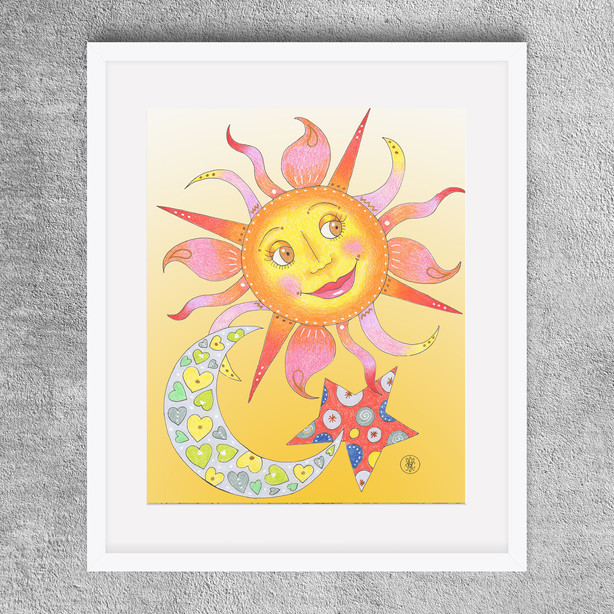 """Mama Sun"" 8x10"" -  Colored Pencil print available on Etsy.com"