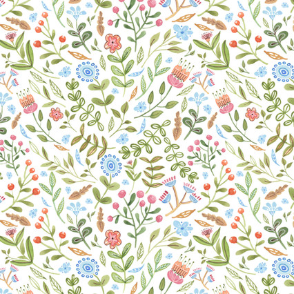 Scented Sage - Watercolor surface pattern design on Spoonflower.com