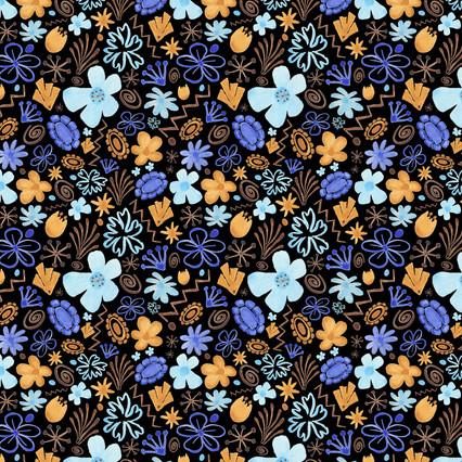 Danhong Flowers black  -  Spoonflower.com
