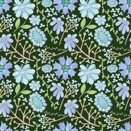 Oceanflowers - Watercolor Surface pattern design on Spoonflower.com