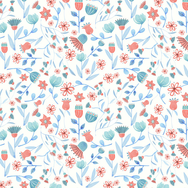 BG Blossoms pattern - Spoonflower.com