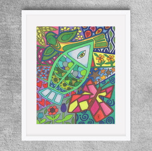 """""""Fish and Friends"""" -  8x10"""" Colored pencil print available on Etsy.com"""