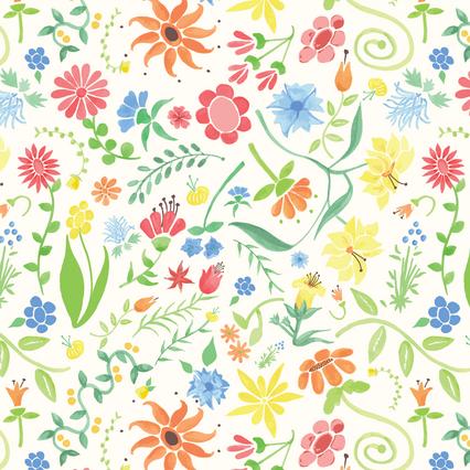 Multi Wild Garden pattern - Spoonflower.com