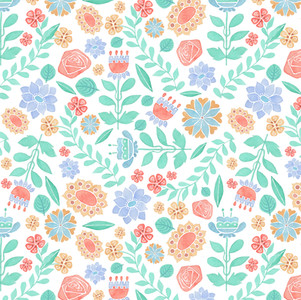 Jet Flowers - Watercolor, Surface pattern design on Spoonflower.com