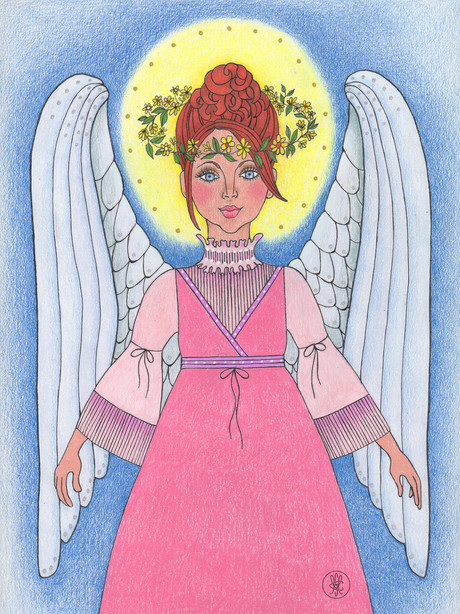 Archangel Ariel print on Etsy.com