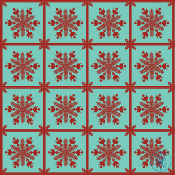 Old Oahu Coral Reef Pineapple Quilt.png