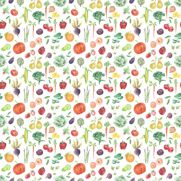 Fruits and Veggies - Spoonflower.com