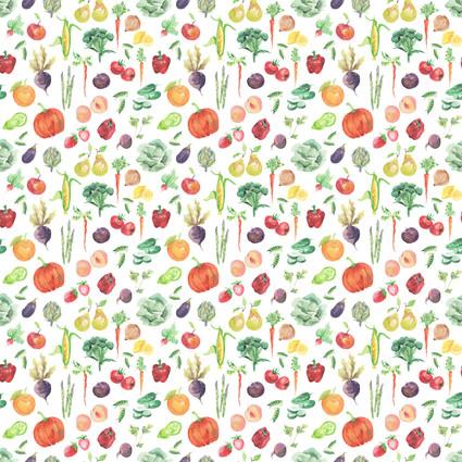 Fruits and Veggies - Spoonflower.com