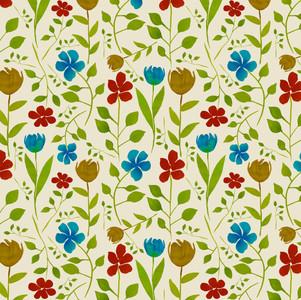 Abby Flowers Beige - Watercolor Surface pattern design on Spoonflower.com
