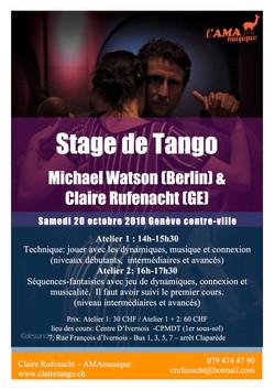 Stage tango Michale Watson 2018
