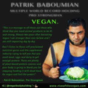 Vegan Bodybuilder Patrik Baboumian