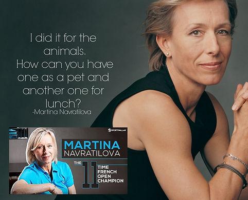 Martina Navratilova Vegan