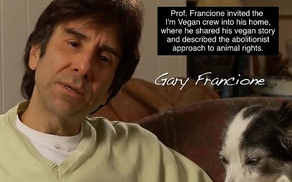 Vegan activist Gary Francione