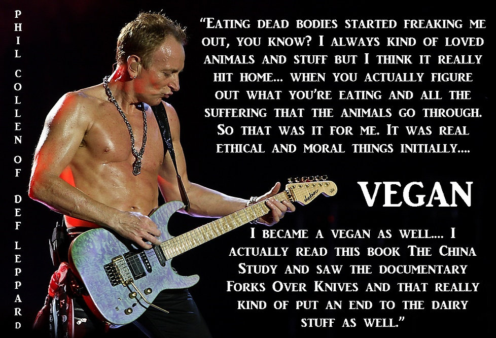 Phil Collen Def Leppard Vegan