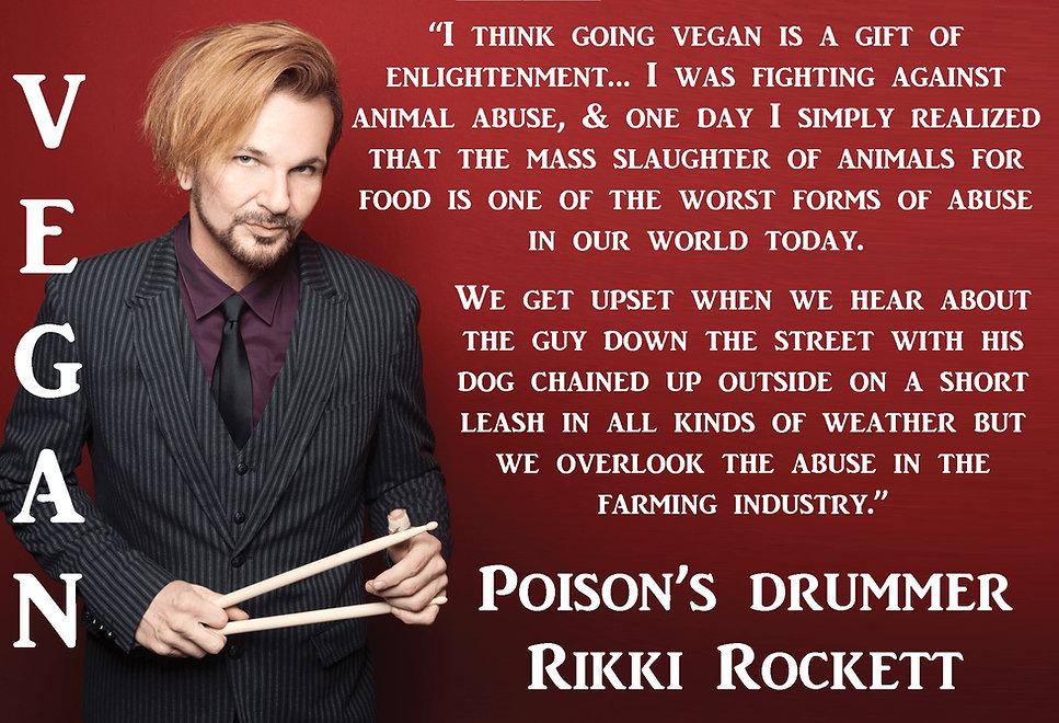 Rikki Rockett Poison Vegan