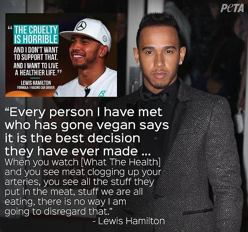 Vegan Athlete Lewis Hamilton