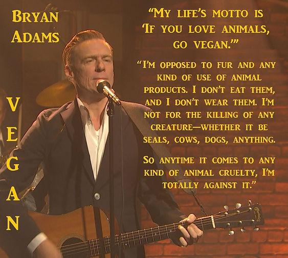 Bryan Adams Vegan