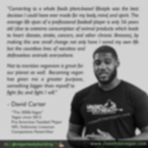 Vegan Athlete David Carter