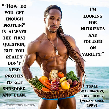 Vegan Bodybuilder Torre Washington