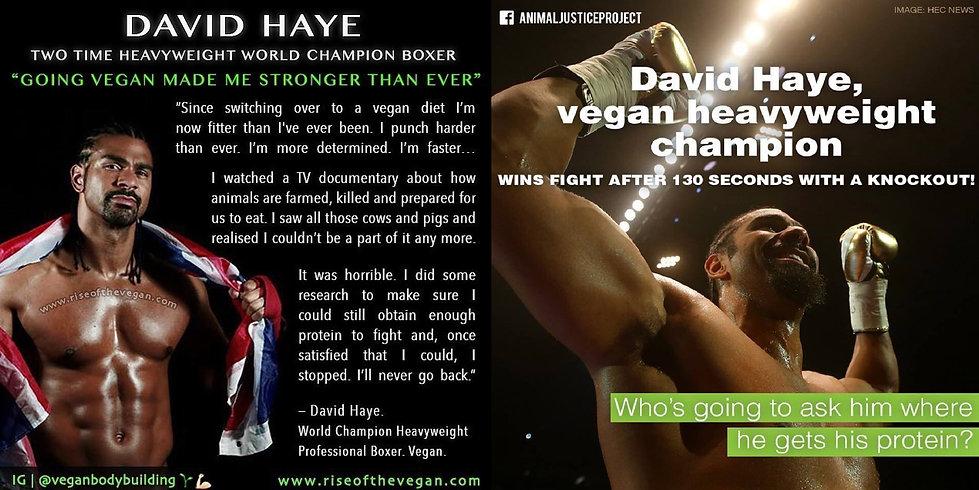 David Haye Vegan
